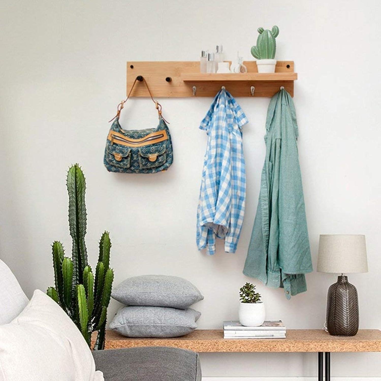 XUYRENP European Creative Metal Hook Simple Home Living Room Bedroom Coat Storage Wall Multifunctional Solid Wood Six Hook