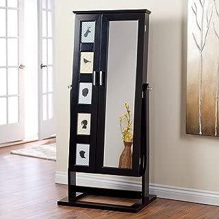Belham Living Photo Frames Jewelry Armoire Cheval Mirror - High Gloss
