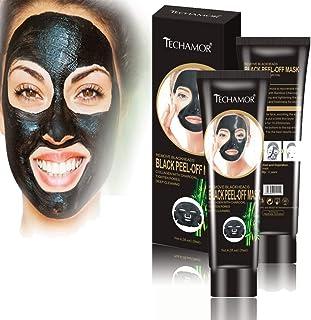 Black Peel Off Facial Mask, Bamboo Charcoal Peel-off Mask, Blackhead Remover Facial Mask, Moisturizing Shrink Pores, Skin ...