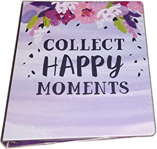 Carolina Pad Studio C The Silver Lining Collection 1 Inch O-Ring Vinyl Binder with Pockets (Collect Happy Moments, 10 Inches x 11.5 Inches)