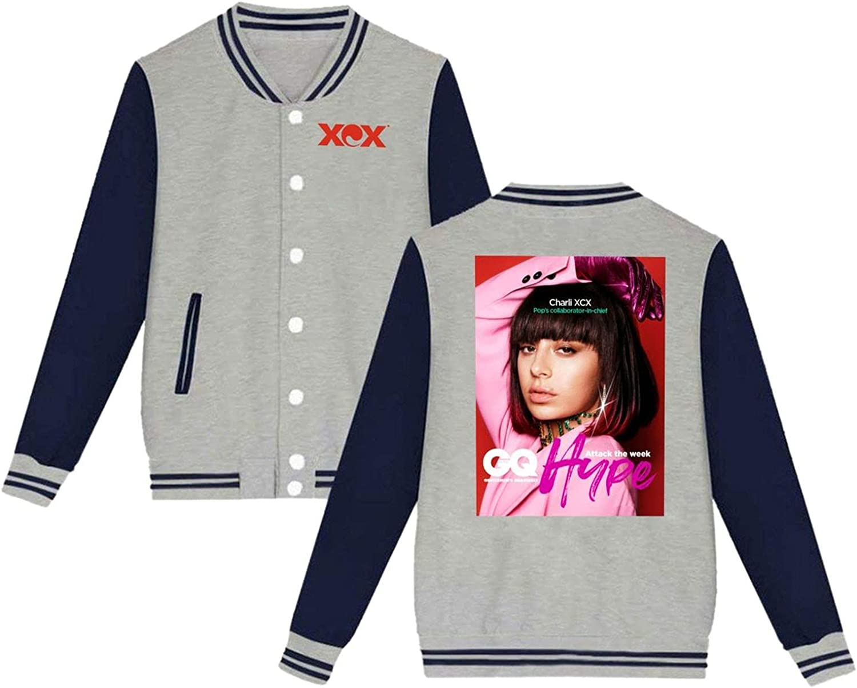 Charli Xcx Mens Slim Albuquerque Mall Fit Sport Varsity Baseball Max 52% OFF Coat Jacket