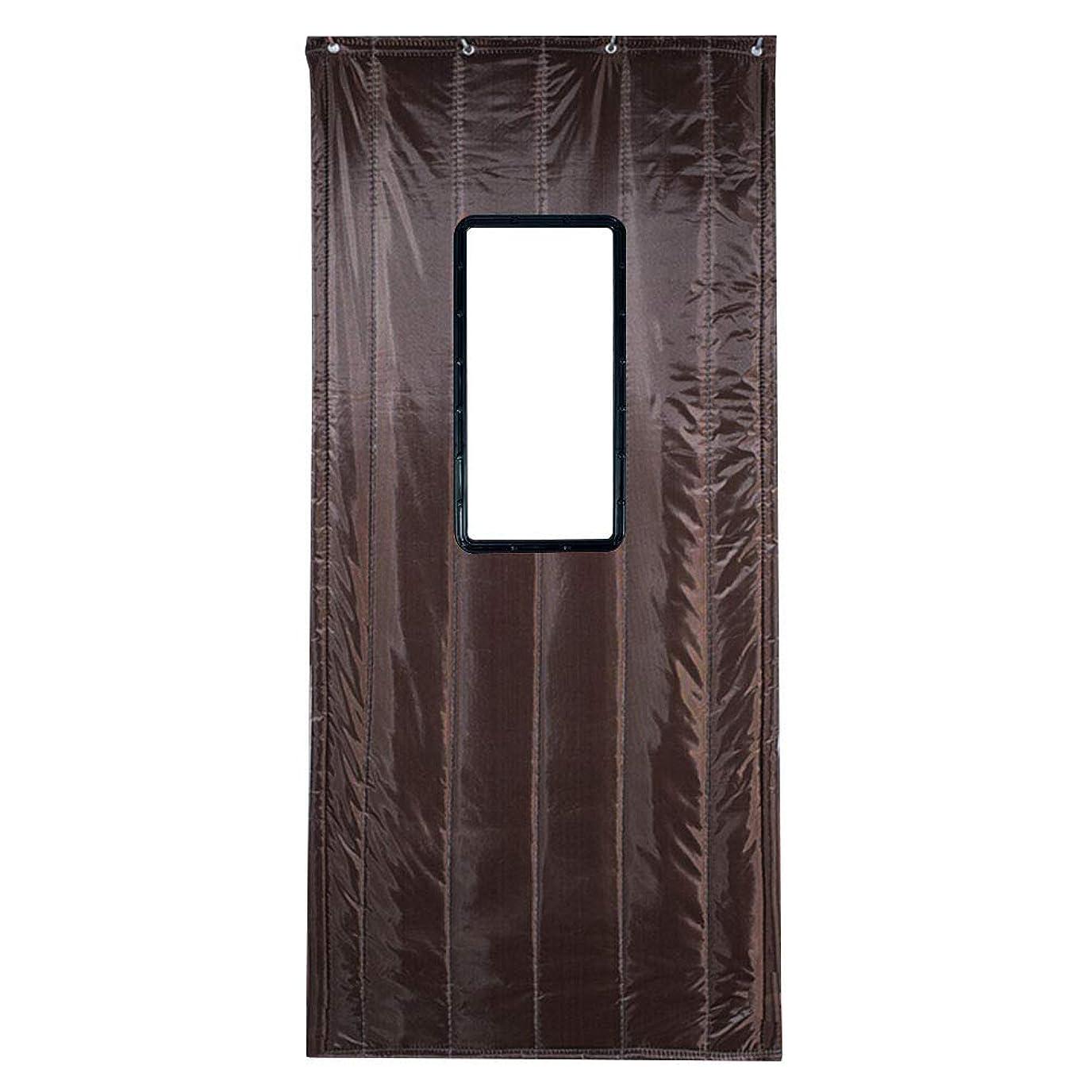 確執露出度の高いアラバマWUFENG ドアカーテン 厚い コットン 絶縁 防風 ハーディー 防水 ウィンドウで、 4色 複数のサイズ カスタマイズ可能 (色 : B, サイズ さいず : 120x200cm)