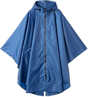 LOHASCASA Women's and Big Gril's Waterproof Raincoat Lightweight Packable Rain Coat Poncho Hooded Polka Dot