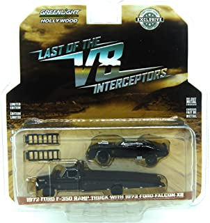 Greenlight 1:64 Hollywood - Last of The V8 Interceptors - 1972 Ford F-350 Ramp Truck with 1973 Ford Falcon XB (Hobby Exclusive)