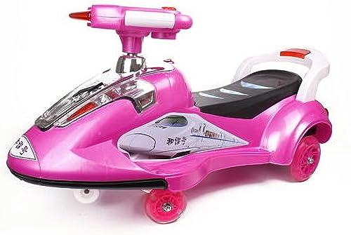 fürt auf Spielzeug, fürt auf Wiggle Auto-By-Ride auf Spielzeug für Jungen und mädchen, 2 Jahre alt und oben, Weiß Stumm (Farbe   Rosa)