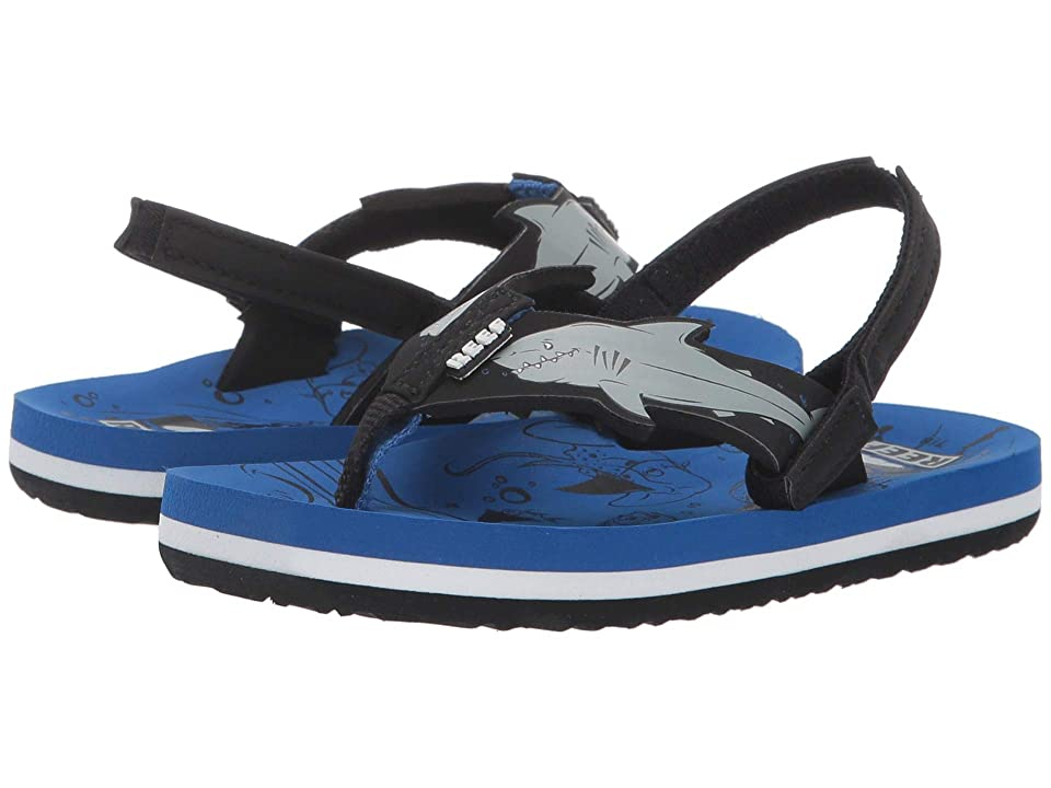 Reef Kids Ahi Shark (Infant/Toddler/Little Kid/Big Kid) (Blue Shark) Boys Shoes