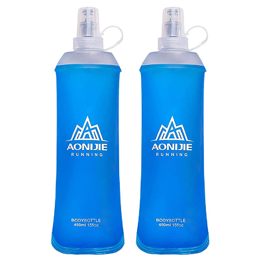 Azarxis TPU Soft Flask Running Collapsible Water Bottles BPA-Free Running Flask for Hydration Pack - Ideal for Running Hiking Cycling Climbing