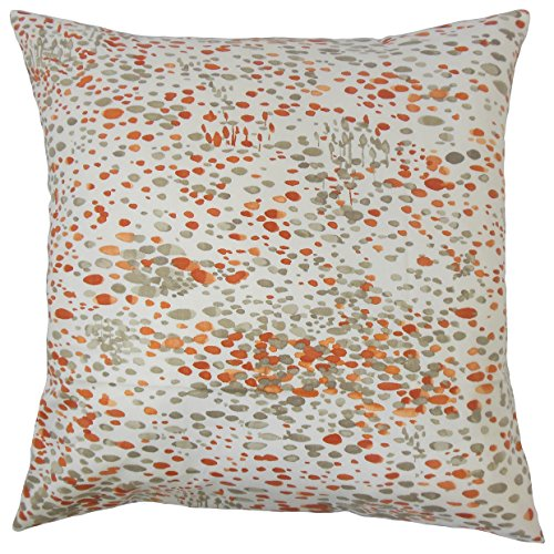 The Pillow Collection PP18-D-72095-33PERSIMMON-C100 Yash Almohada gráfica, Caqui
