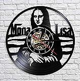 Reloj de Vinilo 30CM Reloj de Pared Decorativo de la Obra de Arte de Lisa Lisa Leonardo da Vinci Pintura Famosa Reloj de Pared de Registro de Vinilo Vintage Regalo para Artista