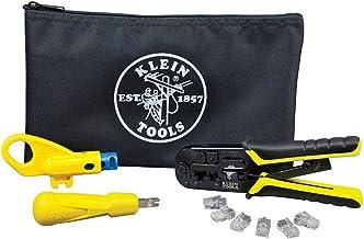 کیت نصب جفت پیچ خورده با ابزار Crimper، Punchdown Tool، Stripper شعاعی، شمارنده داده Klein Tools VDV026-212