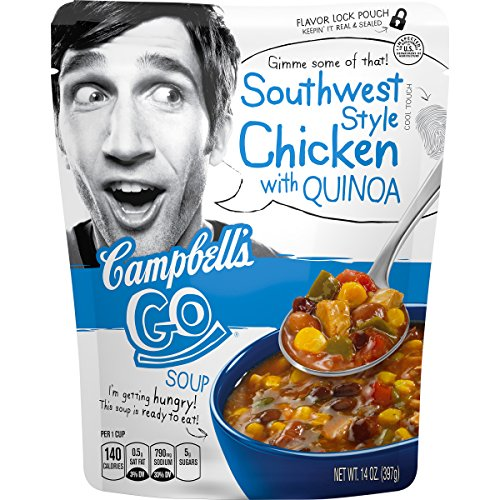 Campbell's Go Soup, Southwest Style Chicken with Quinoa, 14 Ounce (Pack of 8)