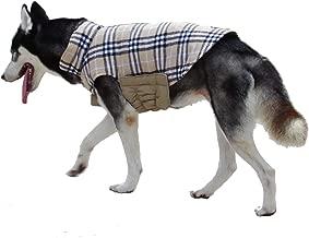 ThinkPet Chaqueta Perro Reversible Ropa para Perro Escocesa Abrigo Perro Impermeable de Cuadros británicos para Perros medianos
