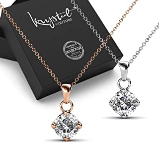 2pc Necklace Set Embellished with Swarovski crystals