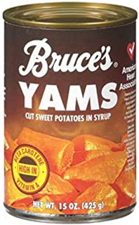 Bruces Yams Cut Sweet Potatoes in Syrup 15 oz can (2 Pack)