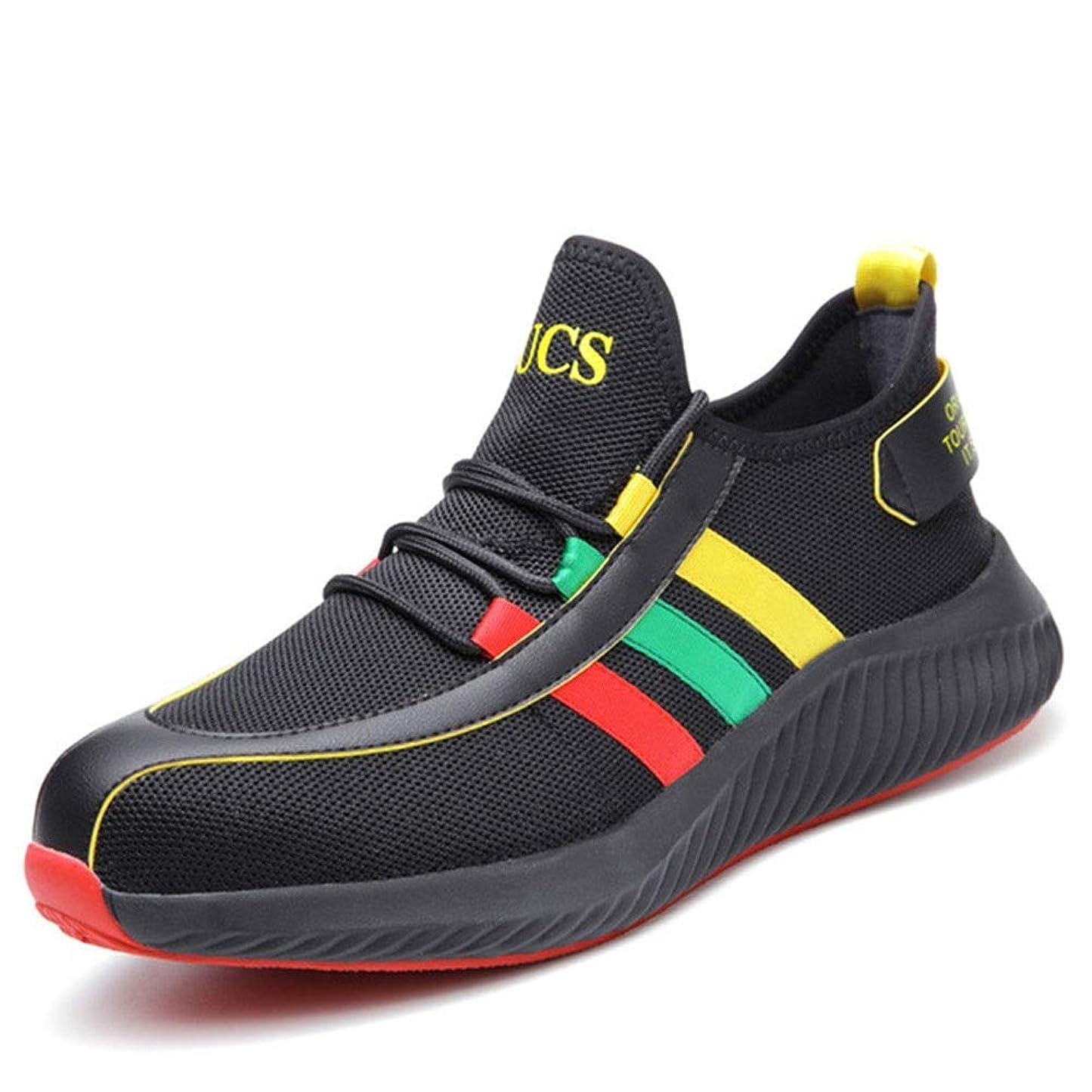 誠実さ雷雨吹きさらし安全 靴 安全 スニ一カ一 作業 靴 作業 おしゃれ あんぜん靴 工事現場 靴 鋼先芯 耐摩耗 防刺 耐滑ソール アウトドア スニーカー ワーク シューズ セーフティーシューズ (Color : Black, Size : 36)