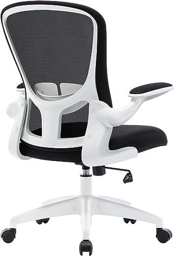 HOMIDEC Bürostuhl Ergonomisch Schreibtischstuhl, Computerstuhl hat Verstellbarer Lendenstütze, Höhenverstellung, 360° Drehstuhl mit Klappbaren…