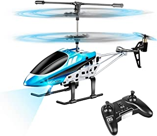 VATOS RC Helicopters, Remote Control Helicopter with Gyro and LED Light 3 Channel Alloy Mini Helicopter Remote Control for...