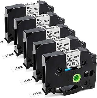 Aken Ruban Cassette compatible pour Brother Ptouch 1000 Ruban TZe-231 TZe231 12mm Noir sur Blanc, Laminé Recharge pour Bro...