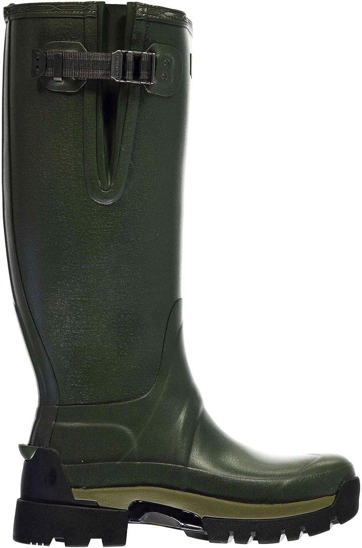 Hunter Balmoral Seiten Einstellen Wasserfest Stiefel Herren Dunkles Olivgrün Stiefel Schuhe