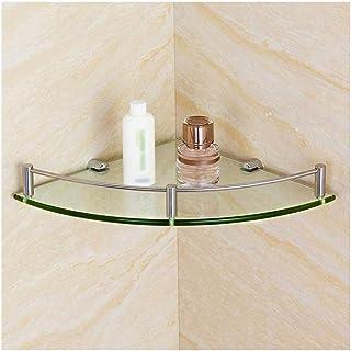 YF-SURINA Caddies de douche étagère salle de bain coin panier de douche mural 304 étagère en acier inoxydable en verre tre...