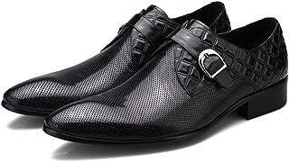 Chaussures de ville pour homme Printemps Boucle d'affaires Chaussures en cuir Haut de gamme fait main peau de vache Travai...