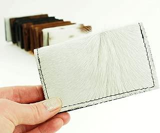 White Cowhide Western Wallet with RFID Blocking