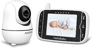 HelloBaby HB66 Vigilabebés Video Baby Monitor con Modo VOX Cámara Remota Pan-Tilt-Zoom 3.2 Pulgadas Pantalla LCD en color Infrarrojo Visión Nocturna Monitoreo de Temperatura