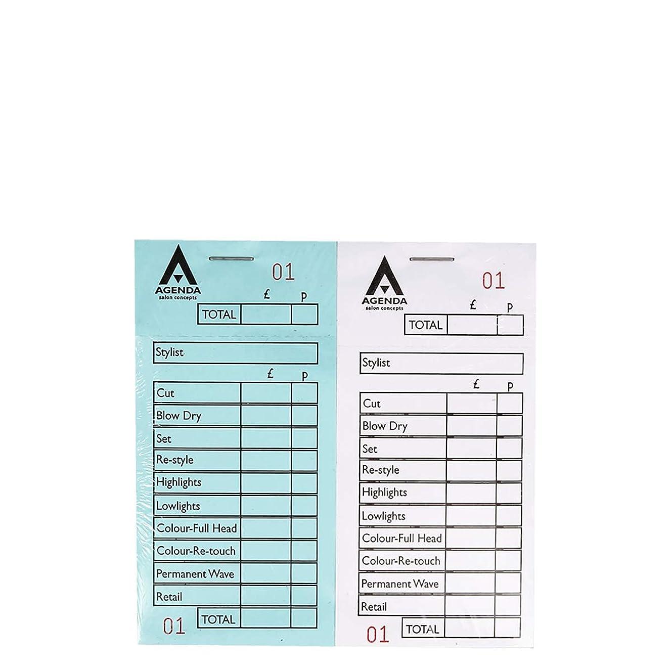 ライナー膜かろうじてアジェンダ サロンコンセプト 番号付きチェックパッド12詰め合わせ[海外直送品] [並行輸入品]