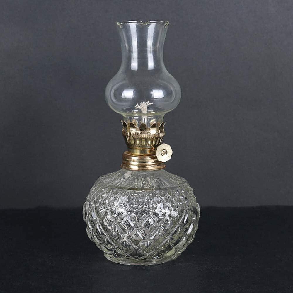 LWJPP Classical Oil Lamp Genuine Home Round Kerosene Body Glass But OFFicial store