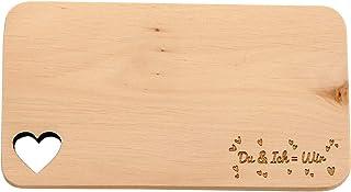 Tagliere per la colazione in legno regalo per la famiglia con scritta in lingua tedesca tagliere in legno con intaglio a forma di cuore