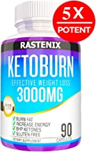 Rastenix Best Keto Pills - 3X Potent (3000mg | 90 Capsules) - Weight Loss Keto Burn Diet Pills - Boost Energy and Metabolism - Exogenous Keto BHB Supplement for Women and Men - 90 Capsules
