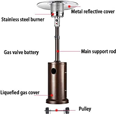 Patio Heater Portable Outdoor Heater Outdoors Patio Heater Gas Portable Tabletop Heater Propane Patio Heaters, Suitable for Y