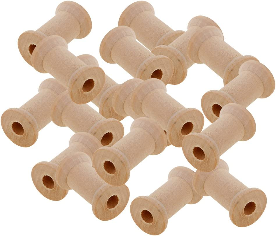 LoveinDIY 20pcs Wooden Max 62% OFF Empty Thread Spools Classic Se Classic DIY Bobbin
