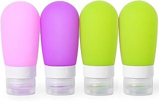 MUUZONING Forma de Bombilla Botellas de Viaje de Silicona 100% BPA Gratis Recipientes rellenables portátiles a Prueba de ...