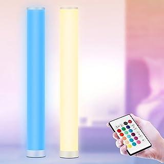 2 Stück - LED Stehlampe Dimmbar mit Fernbedienung, RGB Stehleuchte, 104CM Höhe, Farbwechsel Lichtsaeule, Led Ecklampe für ...