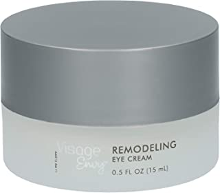 Visage Envy Remodeling Eye Cream for Mature Skin - AminoPeptide Complex Niacinamide, Omega 3,6,9 - Sculpts Under-Eye Skin and Supports Cell Renewal, Infused with Caffeine to Reduce Puffiness 0.5 Ounce