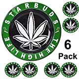 Rockin Ashtray Starbuds The High Life Marijuana Leaf 6 Pack Cigarette Metal Ashtray 6 Inches in Diameter a Smokers Delight!