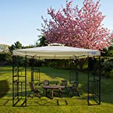 Quictent 10x10 ft Metal Gazebo Soft top Gazebo Canopy with Vent Heavy Duty and Waterproof for Patios, Deck and Backyard (Beige)