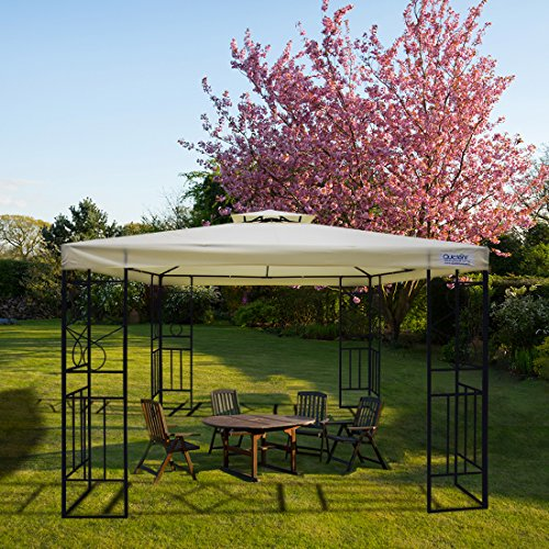 Quictent 10x10 ft Metal Gazebo Soft top Gazebo Canopy with...