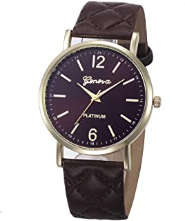 Ikevan Women Geneva Roman Watch Lady Leather Band Analog Quartz Wrist Watch 2018