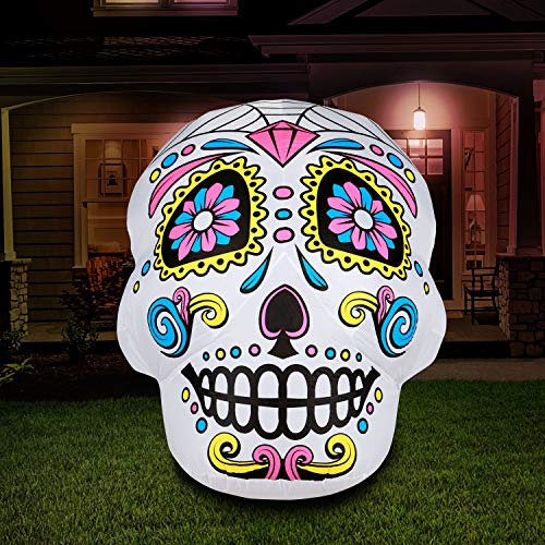 Skull Head Best Halloween Inflatable Yard Decorations
