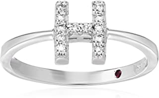Roberto Coin Women's 001634AWLRXH Diamond Initial Ring, White, Size 7