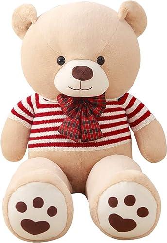Kid Schlafzimmer Spielzeug Teddyb Riesenb B Plüsch Teddyb Geschenk Das Kind Geschenk für Freundin begleiten (Farbe   Beige, Größe   120cm)