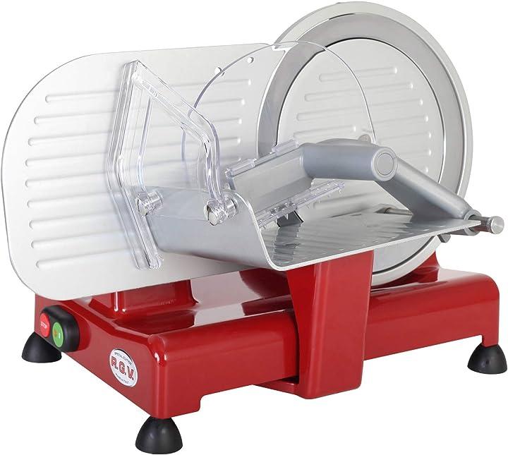Affettatrice 120 w alluminio rosso rgv luxor 22 90248
