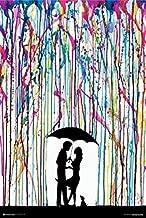 Buyartforless Two Step - Couple Dancing Under Umbrella by Marc Allante 36x24 Art Print Poster