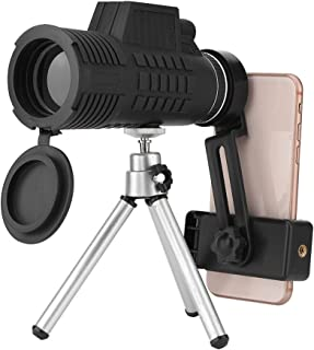 Camping and Bird Watching KONGZIR Handheld Monocular Black Telescopes Hunting 12X50 Telescope High Power HD Night Vision Compact Telescope for Sightseeing