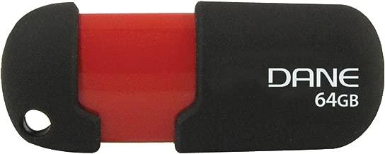DANE ELECTRONICS Dane 64 GB USB Flash Drives, Black/Red (DA-Z64GCAN6-R)