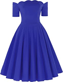 Best royal blue short puffy dress Reviews
