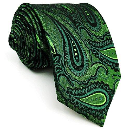 shlax&wing S&W Krawatte Conjunto des Herren Matching Krawatte Dark Verde Cachemir Dünne 6cm