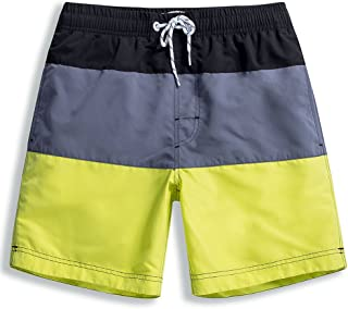 dcd74ce8a3 MaaMgic Mens Short Swim Trunks Boys Quick Dry Beach Broad Shorts Swim Suit  with Mesh Lining